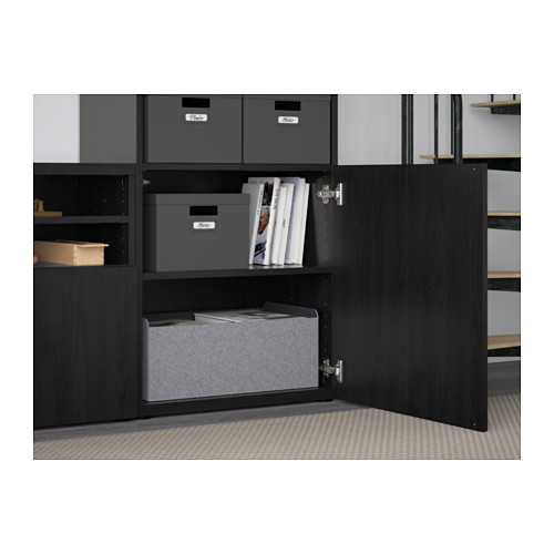 BESTÅ - TV storage combination/glass doors, Lappviken/Sindvik black-brown clear glass | IKEA Hong Kong and Macau - PE560927_S4