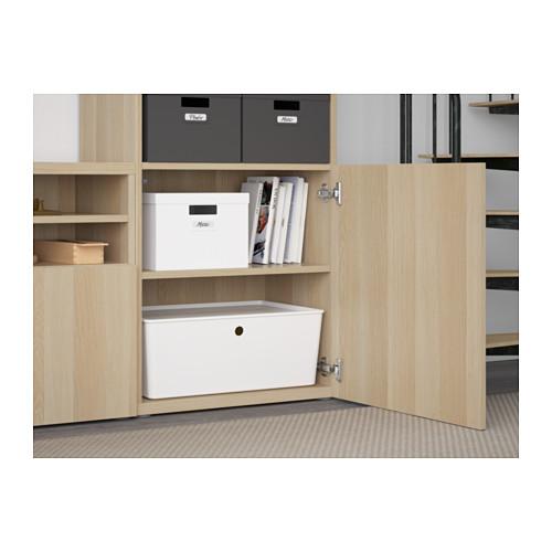 BESTÅ - TV storage combination/glass doors, Lappviken/Sindvik white stained oak eff clear glass | IKEA Hong Kong and Macau - PE560934_S4