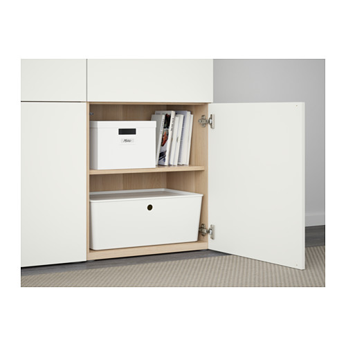 BESTÅ - storage combination with doors, white stained oak effect/Lappviken white | IKEA Hong Kong and Macau - PE561045_S4