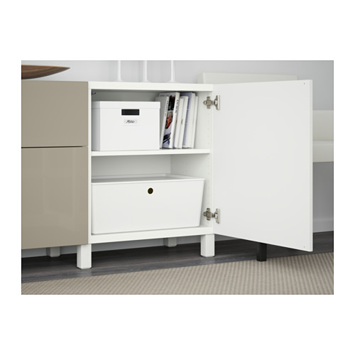 BESTÅ - storage combination with drawers, Laxviken white/Selsviken high-gloss/beige | IKEA Hong Kong and Macau - PE561082_S4