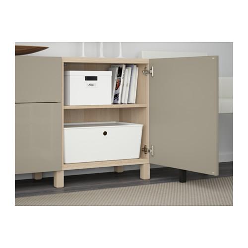BESTÅ - 貯物組合連抽屜, white stained oak effect/Selsviken/Stubbarp high-gloss/beige | IKEA 香港及澳門 - PE561100_S4