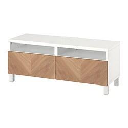 BESTÅ - 電視几連抽屜, white/Hedeviken/Stubbarp oak veneer | IKEA 香港及澳門 - PE820909_S3