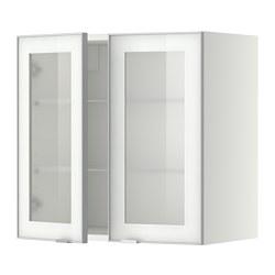 METOD - 吊櫃連層板/1對玻璃門, white/Jutis frosted glass | IKEA 香港及澳門 - PE349378_S3