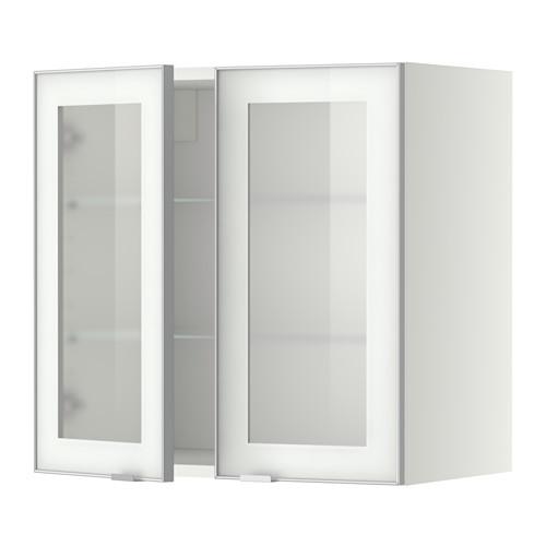 METOD - wall cabinet w shelves/2 glass drs, white/Jutis frosted glass | IKEA Hong Kong and Macau - PE349378_S4