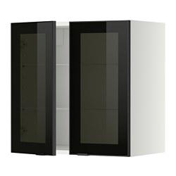 METOD - 吊櫃連層板/1對玻璃門, white/Jutis smoked glass | IKEA 香港及澳門 - PE349379_S3