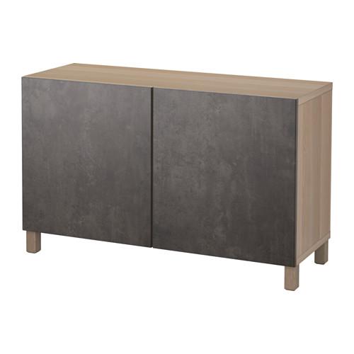 BESTÅ - 貯物組合連門, 染白橡木紋 Kallviken/深灰色 仿混凝土 | IKEA 香港及澳門 - PE627006_S4