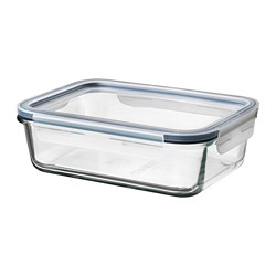 IKEA 365+ - food container with lid, rectangular glass/plastic, 1L | IKEA Hong Kong and Macau - PE675641_S3