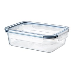 IKEA 365+ - food container with lid, rectangular/plastic, 1L | IKEA Hong Kong and Macau - PE675642_S3