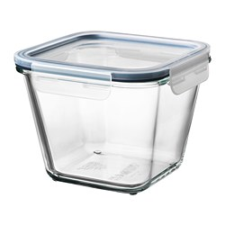 IKEA 365+ - food container with lid, square glass/plastic, 1.2L | IKEA Hong Kong and Macau - PE675643_S3