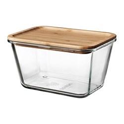 IKEA 365+ - 連蓋食物盒, 長方形 玻璃/竹, 1.8 升 | IKEA 香港及澳門 - PE675652_S3