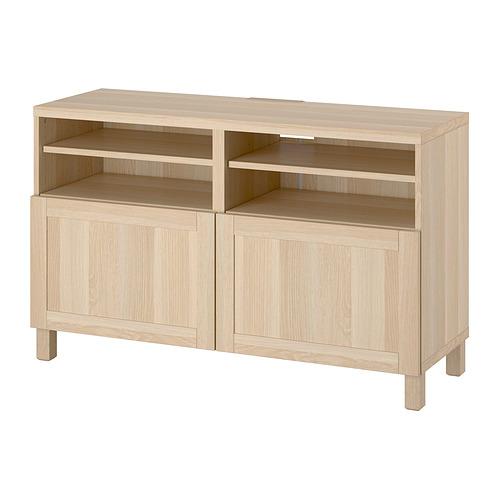 BESTÅ - 電視几連門, white stained oak effect/Hanviken/Stubbarp white stained oak effect | IKEA 香港及澳門 - PE820932_S4