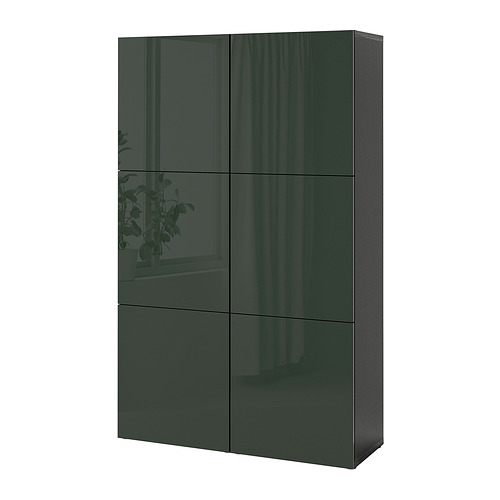 BESTÅ - 貯物組合連門, black-brown Selsviken/high-gloss dark olive-green | IKEA 香港及澳門 - PE821031_S4