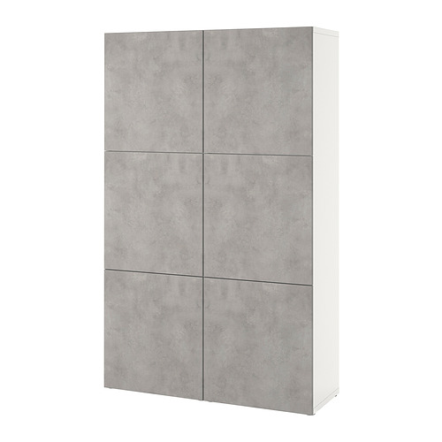 BESTÅ - 貯物組合連門, white Kallviken/light grey concrete effect | IKEA 香港及澳門 - PE821020_S4