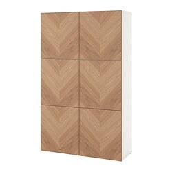 BESTÅ - storage combination with doors, white/Hedeviken oak veneer | IKEA Hong Kong and Macau - PE821022_S3