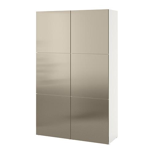 BESTÅ - 貯物組合連門, white/Riksviken light bronze effect | IKEA 香港及澳門 - PE821025_S4