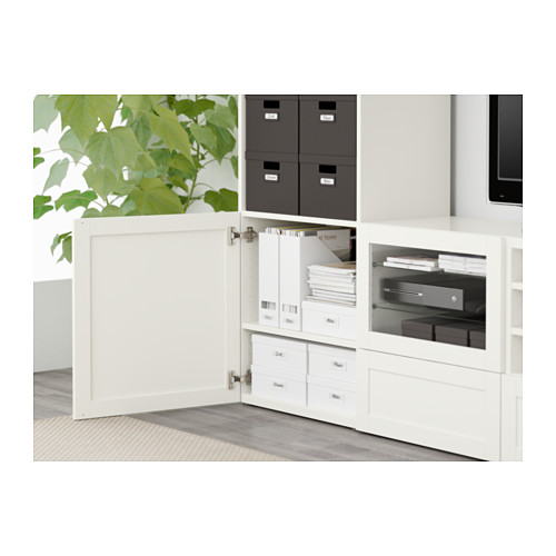BESTÅ - TV storage combination/glass doors, Hanviken white clear glass | IKEA Hong Kong and Macau - PE561263_S4
