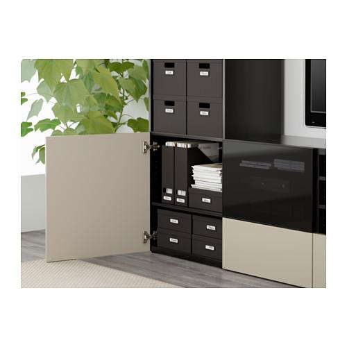 BESTÅ - 電視貯物組合/玻璃門, 棕黑色/Selsviken 光面/米色 茶色玻璃 | IKEA 香港及澳門 - PE561278_S4