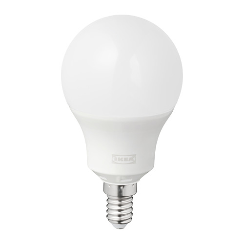 TRÅDFRI - LED bulb E14 470 lumen, wireless dimmable colour and white spectrum/globe opal white | IKEA Hong Kong and Macau - PE765629_S4