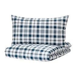SPIKVALLMO - 被套枕袋套裝, 白色 藍色/方格, 150x200/50x80 cm | IKEA 香港及澳門 - PE769127_S3