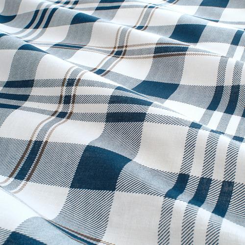 SPIKVALLMO - 被套連2個枕袋, 白色 藍色/方格, 240x220/50x80 cm | IKEA 香港及澳門 - PE769130_S4