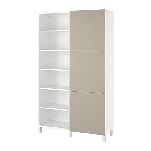 BESTÅ - 貯物組合連門, white/Lappviken/Stubbarp light grey-beige   IKEA 香港及澳門 - PE821056_S4