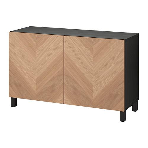 BESTÅ - 貯物組合連門, black-brown/Hedeviken/Stubbarp oak veneer | IKEA 香港及澳門 - PE821073_S4