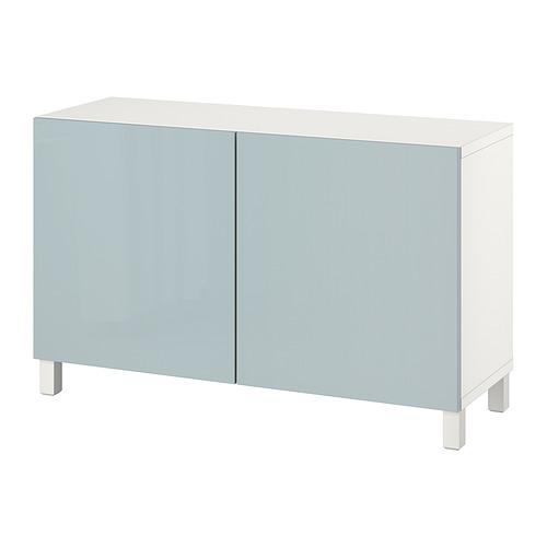 BESTÅ - 貯物組合連門, white Selsviken/Stubbarp/high-gloss light grey-blue   IKEA 香港及澳門 - PE821078_S4