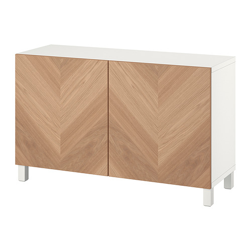 BESTÅ - 貯物組合連門, white/Hedeviken/Stubbarp oak veneer   IKEA 香港及澳門 - PE821085_S4