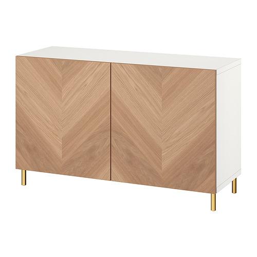 BESTÅ - 貯物組合連門, white/Hedeviken/Ösarp oak veneer   IKEA 香港及澳門 - PE821091_S4