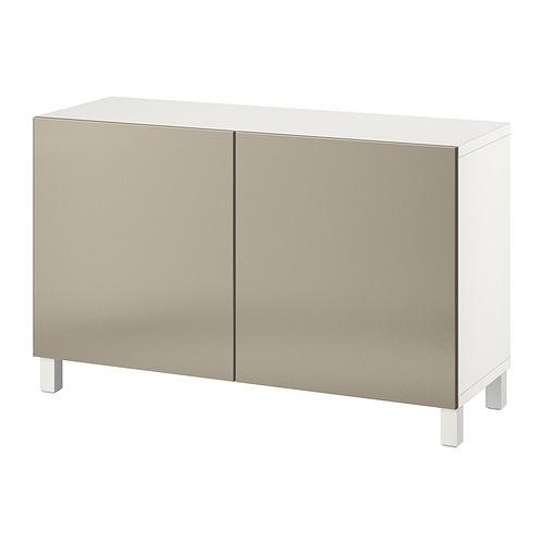 BESTÅ - 貯物組合連門, white/Riksviken/Stubbarp light bronze effect | IKEA 香港及澳門 - PE821088_S4