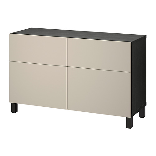 BESTÅ - 貯物組合連門/抽屜, black-brown/Lappviken/Stubbarp light grey-beige | IKEA 香港及澳門 - PE821112_S4