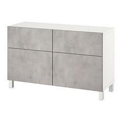 BESTÅ - storage combination w doors/drawers, white Kallviken/Stubbarp/light grey concrete effect | IKEA Hong Kong and Macau - PE821110_S3