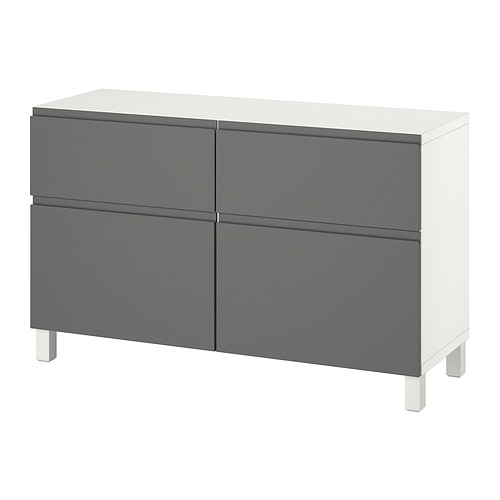 BESTÅ - 貯物組合連門/抽屜, white/Västerviken/Stubbarp dark grey | IKEA 香港及澳門 - PE821100_S4
