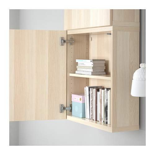 BESTÅ - wall cabinet with 2 doors, Lappviken white stained oak effect | IKEA Hong Kong and Macau - PE561327_S4
