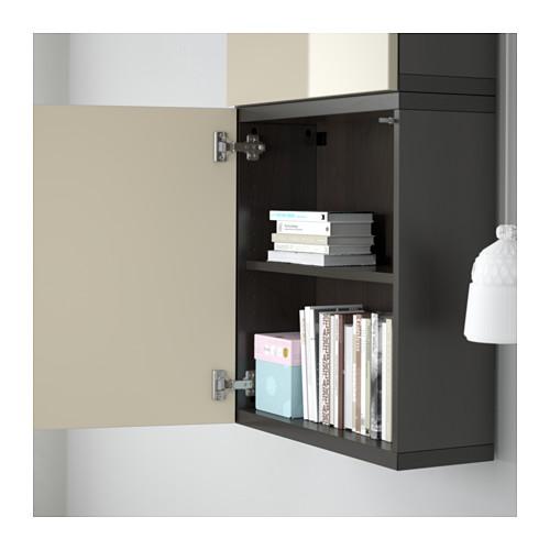 BESTÅ - 雙門吊櫃, 棕黑色/Selsviken 光面/米黃色   IKEA 香港及澳門 - PE561333_S4