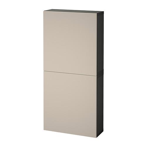 BESTÅ - 雙門吊櫃, black-brown/Lappviken light grey-beige | IKEA 香港及澳門 - PE821309_S4