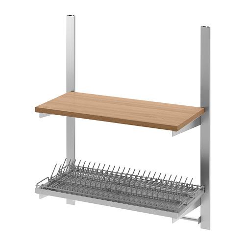KUNGSFORS - 導軌連層板/導軌/乾碟架, 不銹鋼/梣木   IKEA 香港及澳門 - PE675867_S4