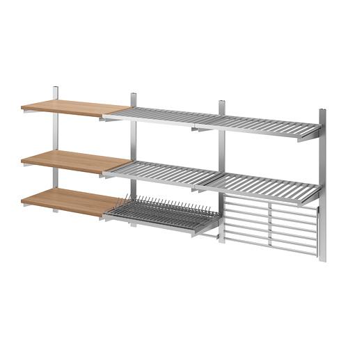 KUNGSFORS - susp rail/shlf/dish dra/rail/wll gr, stainless steel/ash | IKEA Hong Kong and Macau - PE675868_S4