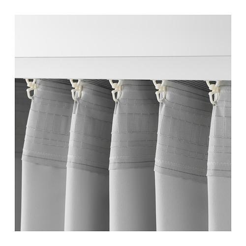 VILBORG - 半遮光窗簾,一對, 灰色 | IKEA 香港及澳門 - PE675878_S4