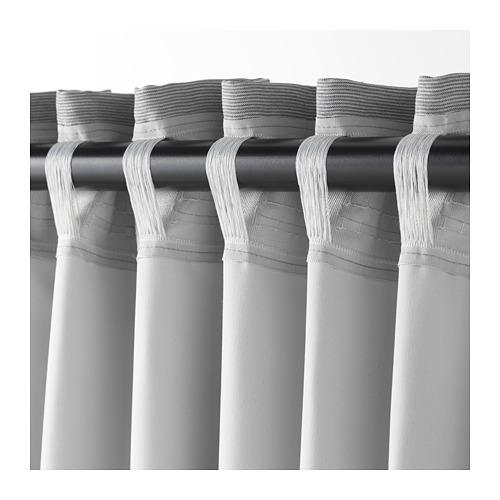 VILBORG - 半遮光窗簾,一對, 灰色 | IKEA 香港及澳門 - PE675881_S4