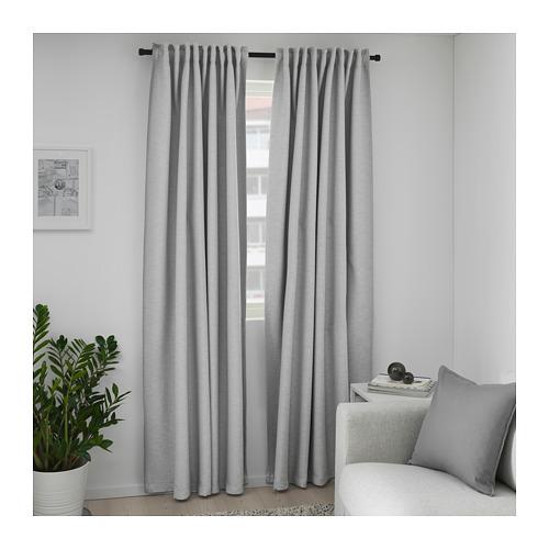 VILBORG - 半遮光窗簾,一對, 灰色 | IKEA 香港及澳門 - PE675880_S4