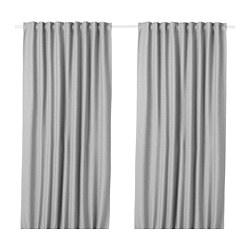 VILBORG - room darkening curtains, 1 pair, grey | IKEA Hong Kong and Macau - PE675879_S3