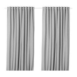 VILBORG - 半遮光窗簾,一對, 灰色 | IKEA 香港及澳門 - PE675879_S3