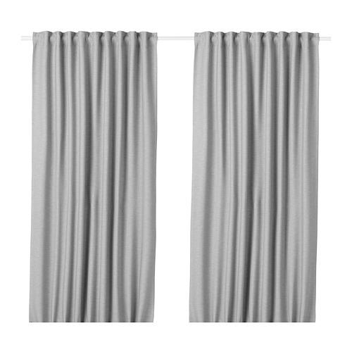 VILBORG - 半遮光窗簾,一對, 灰色 | IKEA 香港及澳門 - PE675879_S4
