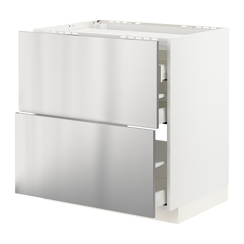 MAXIMERA/METOD 爐具地櫃連2面板/3抽屜