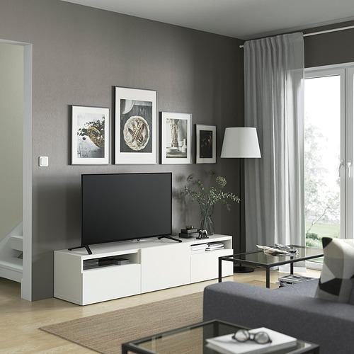 BESTÅ - TV bench, white/Lappviken white | IKEA Hong Kong and Macau - PE821459_S4