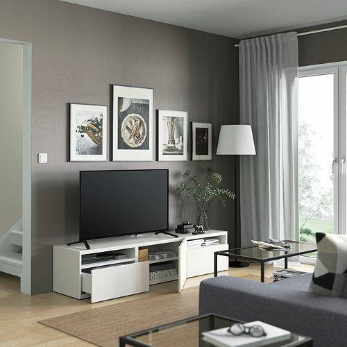 BESTÅ - TV bench, white/Lappviken white | IKEA Hong Kong and Macau - PE821460_S4