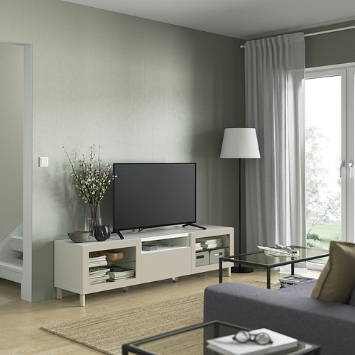 BESTÅ - TV bench, white Sindvik/Lappviken/Mejarp light grey/beige   IKEA 香港及澳門 - PE821520_S4