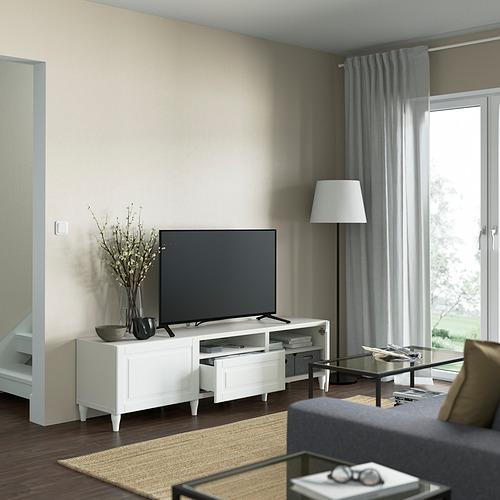 BESTÅ - TV bench, white/Smeviken/Kabbarp white | IKEA 香港及澳門 - PE821469_S4