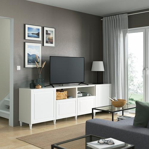 BESTÅ - 電視几連抽屜/門, white/Smeviken/Kabbarp white | IKEA 香港及澳門 - PE821676_S4